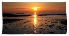 Sundown At The North Sea Beach Towel
