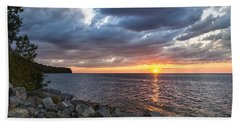 Sundown Bay Beach Towel by Bill Pevlor