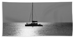 Sundown Sail Beach Towel