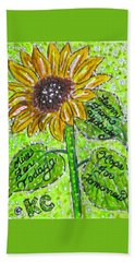 Sunflower Advice Beach Sheet by Kathy Marrs Chandler