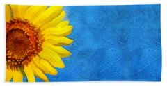 Sunflower Art Beach Towel