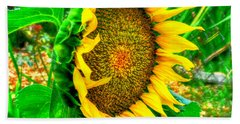 Sunflower Bloom Beach Towel