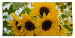 Sunflower Bouquet Beach Sheet