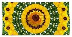 Sunflower Centerpiece Beach Sheet