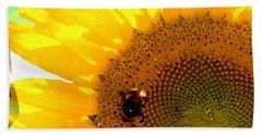 Beach Towel featuring the digital art Sunflower by Daniel Janda