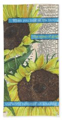 Sunflower Dictionary 2 Beach Towel
