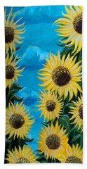 Sunflower Fun Beach Sheet