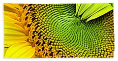 Sunflower Kaleidescope Beach Towel