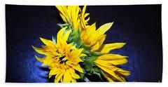 Sunflower Portrait Beach Towel