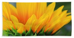Sunflower Profile Beach Towel