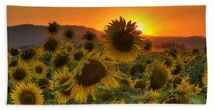 Sunflower Sun Rays Beach Sheet