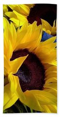Sunflower Sunny Yellow In New Orleans Louisiana Beach Sheet by Michael Hoard