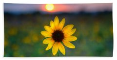 Sunflower Sunset Beach Towel