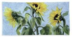 Sunflowers Beach Sheet by Cristiana Angelini