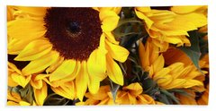 Beach Towel featuring the photograph Sunflowers by Dora Sofia Caputo Photographic Art and Design