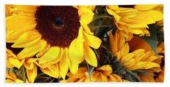 Beach Sheet featuring the photograph Sunflowers by Dora Sofia Caputo Photographic Art and Design