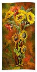 Sunflowers In Sunflower Vase Beach Towel