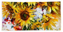 Sunflowers Of Happiness New Beach Towel