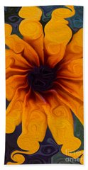 Sunflowers On Psychadelics Beach Towel