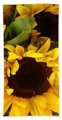 Sunflowers Tall Beach Sheet
