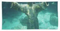 Sunken Savior Beach Towel by Robert ONeil