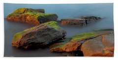 Beach Towel featuring the photograph Sunkissed Rocks by Jacqui Boonstra