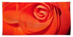 Sunkissed Orange Rose 9 Beach Towel