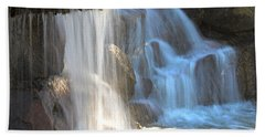 Sunlight On The Falls Beach Towel by Deb Halloran