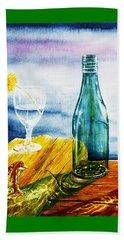 Sunlit Bottles Beach Sheet