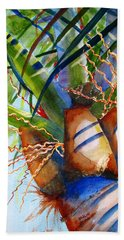Sunlit Palm Beach Towel