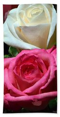 Sunlit Roses Beach Towel by Marie Hicks