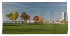 Beach Towel featuring the photograph Sunny Autumn Day by Jonah  Anderson