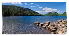 Sunny Day On Jordan Pond   Beach Sheet