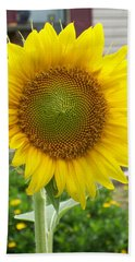 Bright Sunflower Happiness Beach Towel by Belinda Lee