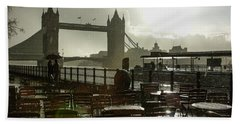 Sunny Rainstorm In London - England Beach Towel