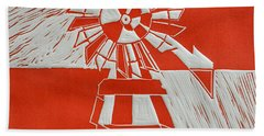 Sunny Windmill Beach Towel by Verana Stark