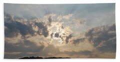 Beach Towel featuring the photograph Sunrise 1 by George Katechis