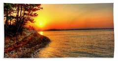 Sunrise Around The Bend Beach Towel