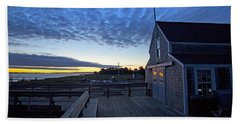Sunrise At Barnstable Yacht Club Beach Sheet