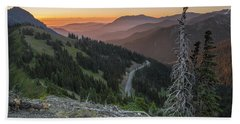 Sunrise At Hurricane Ridge - Sunrise Peak Beach Towel