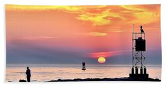 Sunrise At Indian River Inlet Beach Towel