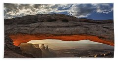 Sunrise At Mesa Arch Beach Sheet