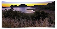 Sunrise Behind The Quartz Mountains - Oklahoma - Lake Altus Beach Sheet