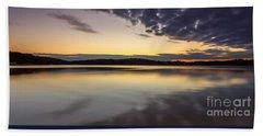 Sunrise On The Lake Beach Towel