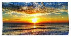 Sunrise Beach Towel by Carlos Avila