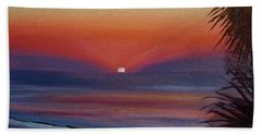 Beach Sheet featuring the painting Sunrise Glow by Donna Tuten