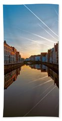 Sunrise In Bruges Beach Towel