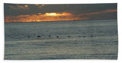 Beach Towel featuring the photograph Sunrise In Florida Riviera by Rafael Salazar