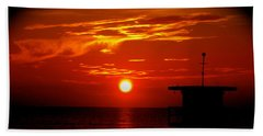 Sunrise In Miami Beach Beach Towel
