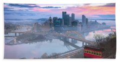 Pittsburgh Fall Day Beach Towel